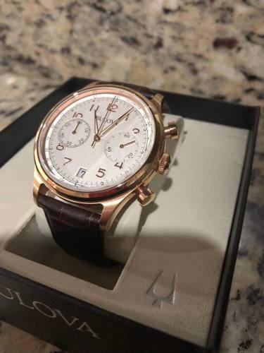 Reloj Bulova Correa De Cuero Cronógraf