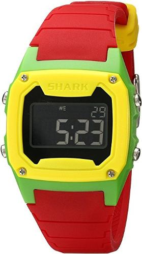 Reloj Freestyle Shark Clasico Rojo, Verde Y Amarillo.