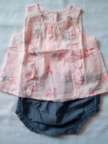 Conjunto Vestido Elegante De 2 Piezas Niña De 6 A 12 Meses
