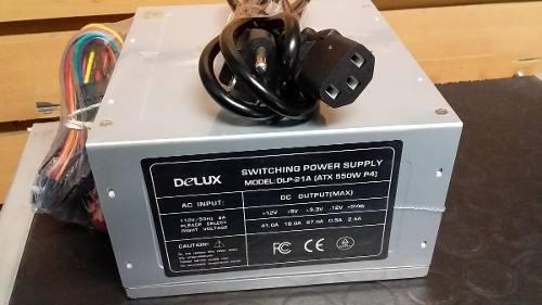 Fuente De Poder Atx 550watt P4 20+4 Pines Delux Dlp21a Nueva