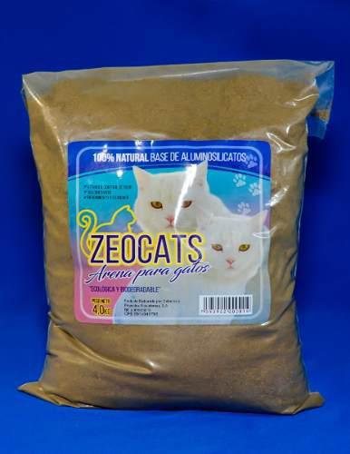 Arena Gatos Zeocats Natural 4 Kg Mascotas Animales