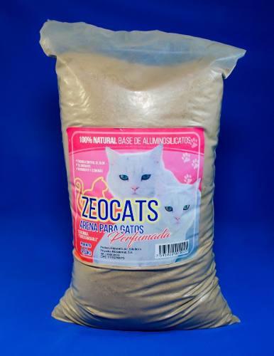 Arena Gatos Zeocats Perfumada 4 Kg Mascotas Animales