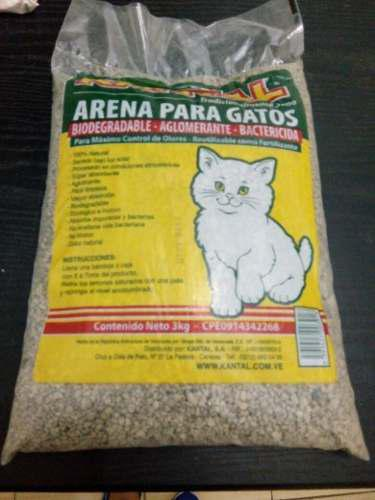 Arena Para Gatos Marca Kantal De 3 Kg.