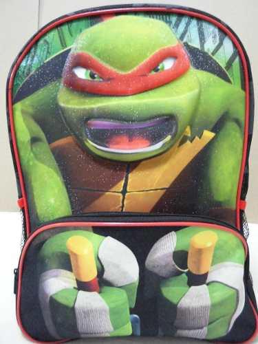 Bolso Morral Escolar Colegio Infantil Niños Tortugas Ninjas
