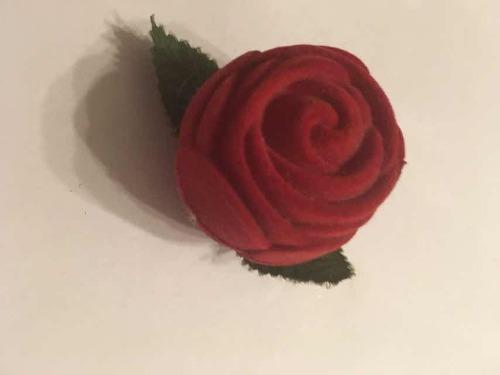 Caja De Rosa Para Anillos