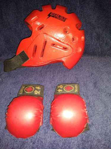 Casco Y Guantes De Karate