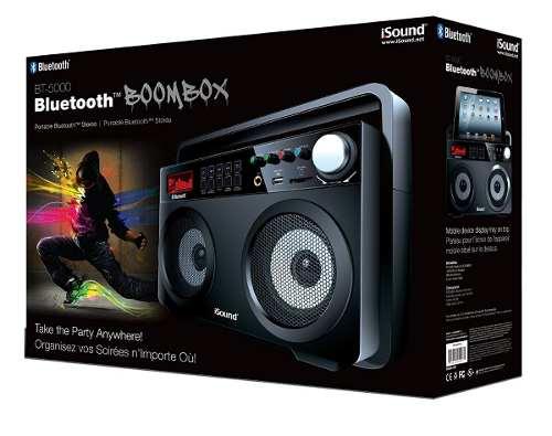 Corneta Boombox Portátil Con Bluetooth Isound Bt-