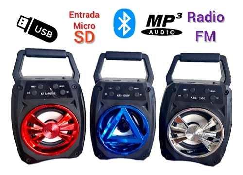 Corneta Inalámbrica Portátil, Con Bluetooth, Usb Y Radio
