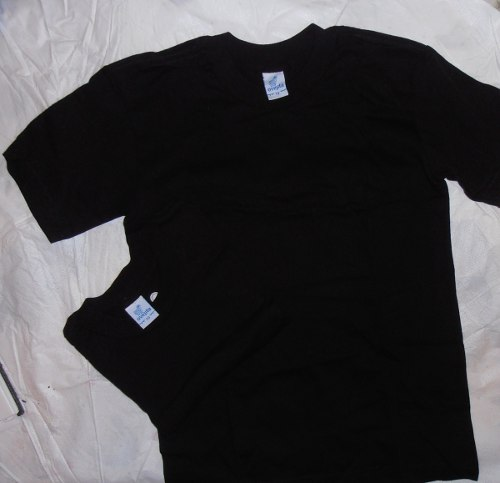 Franela Ovejita Color Negro Talla 8 Y 10