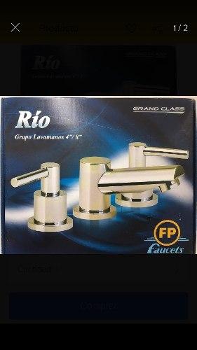 Grifería O Llave Para Lavamanos Doble Fp Río 4 Y 8