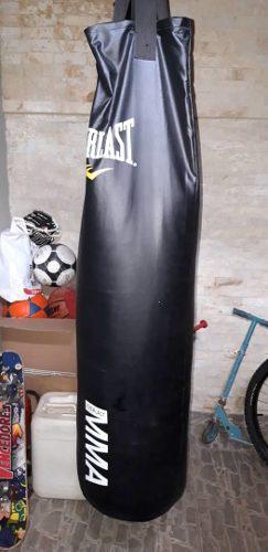 Saco Boxeo De Cuero Marca Everlast