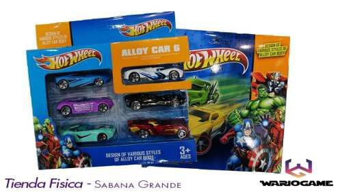 Set De 6 Carros De Carros Hotwheel Coleccion Somos Tienda