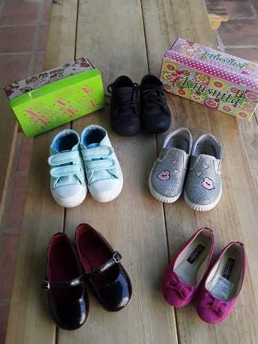 Zapatos De Niña Usados Rosados, Negros, Azul