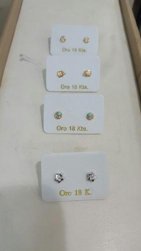 Zarcillos Abridores De Oro 18 Kilates Para Bb