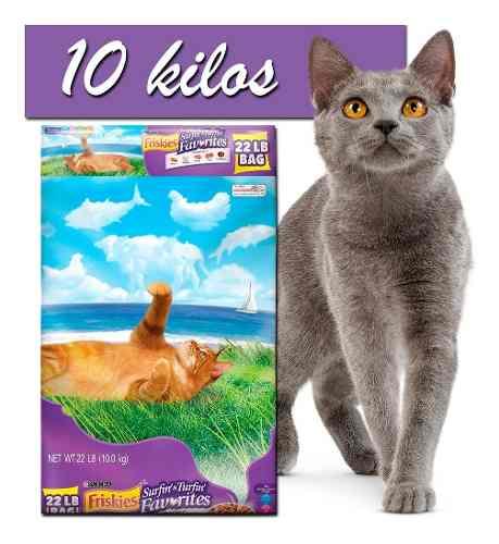 Alimento Para Gatos Friskies Y Meow Mix 22 Libras