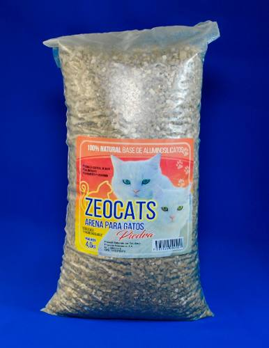 Arena Gatos Zeocats Piedra 4 Kg Mascotas Animales