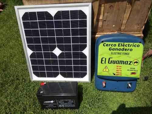 Electrificador Cerca Ganadera Kit Dual Panel Solar Y
