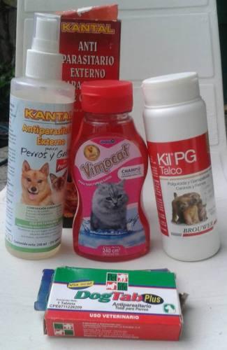 Gatos Talco Vimocat Shampoo Antipulgas Desparasitante Otros