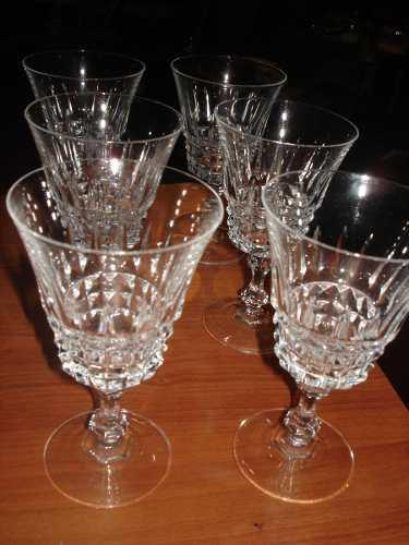 Juego De Cristal 6 Copas De Cristal En Perfecto Estado