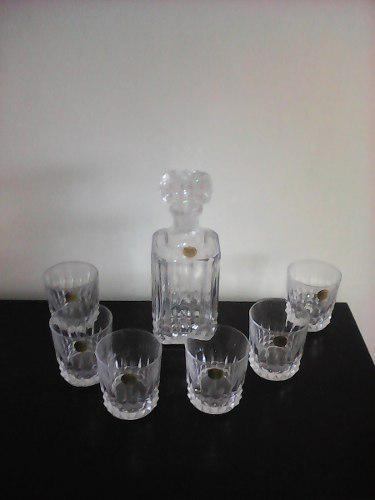 Licorera Y Vasos De Cristal D´ Arques