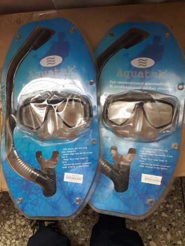 Mascara Y Snorkel Aquatek 100% Silicon