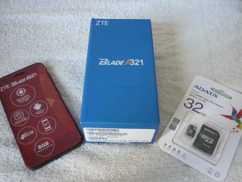 Promocion Zte Blade A321 + Micro Sd 32gb Quad Core, 4g Nuevo