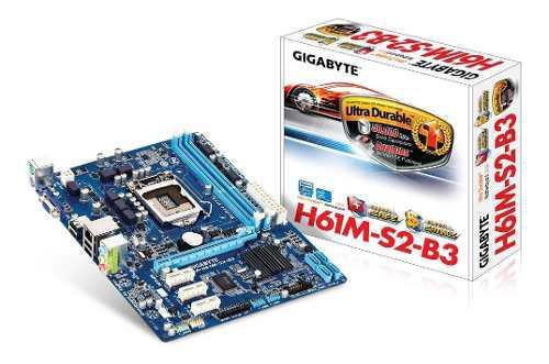 Tarjeta Madre Ga-h61m-s2-b3 Socket 1155 Ddr3 Con Ram Y Cpu
