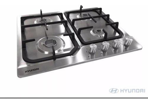 Tope De Cocina A Gas 60cm Acero Inox Hyundai