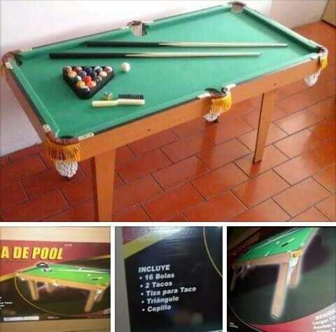 Vendo Mini Mesa De Pool Como Nueva Poco Uso En Su Caja 45 Us