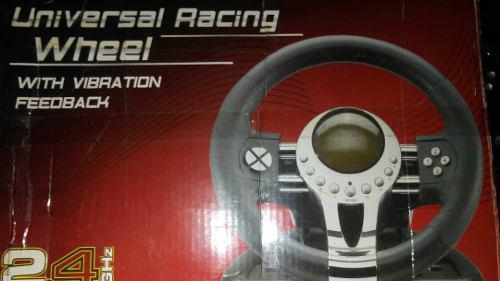 Volante Universal Racing Wheel Con Vibración Ps2 Ps3 Pc