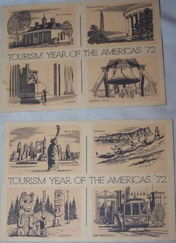 2 Postales De Colección  Turismo En Los Estados Unidos