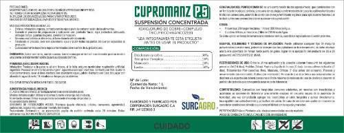 Cupromanz Fungicida (20% Mancozeb, 30% Oxicloruro De Cobre)