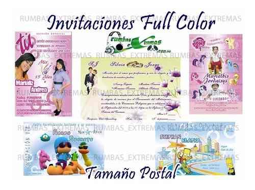 Invitaciones Vip Personalizadas Tipo Postal Por Docena