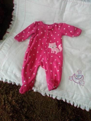 Pijama Carters De Niña Para Bebe. Talla 3 Meses. 6 Verdes.