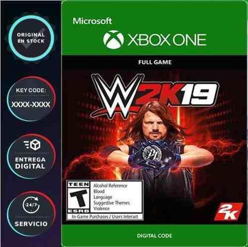 Wwe 2k19 Xbox One Código Digital Juega Online