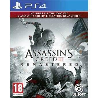 Juego Assassins Creed 3 Remasted Ps4 Fisico Sellado 2019