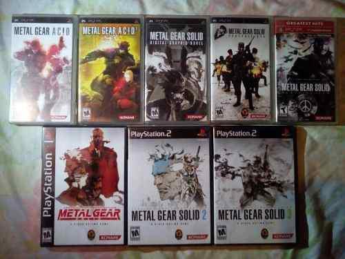 Mega Colección Mgs Para Ps1, Ps2 Y Psp