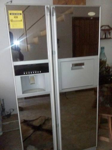 Nevera Casco Dos Puertas De Espejo Con Dispensador