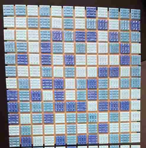 Oferta Mosaico Para Piscina Y Baños, Azul Mixto, En Papel