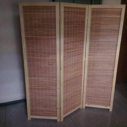 Paraban O Biombo De Bambú Artesanal 3 Cuerpos Nuevos