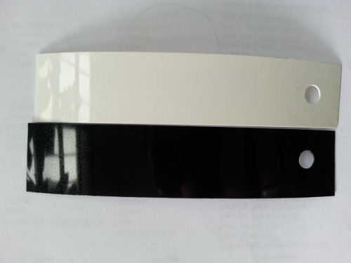 Tapacantos De Pvc 22mmx0.40mm Blanco Y Negro Brillante