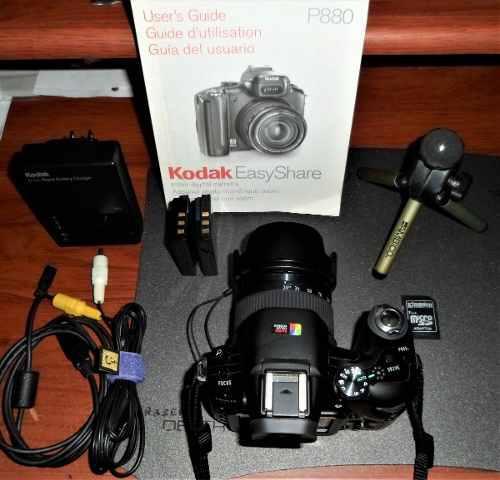 Camara Kodak Easyshare P880 8 Megapix +acc +bolso +tripode