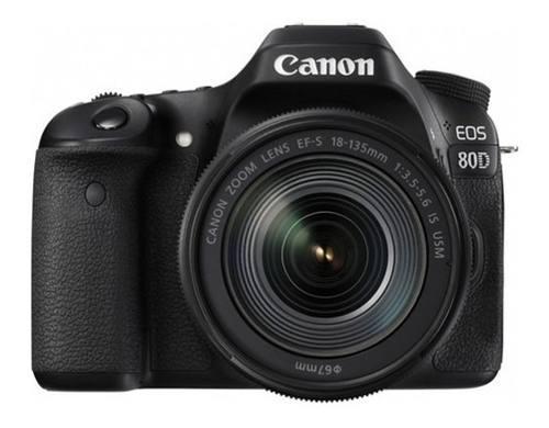 Cámara Digital Canon Eos 80d Lente 18-135mm Todocanon