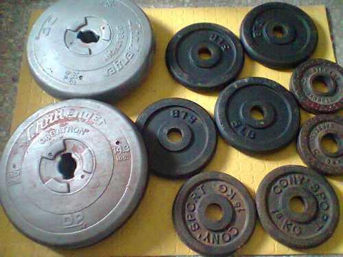 Discos De Pesas 10 Discos Peso 27.3kg Total