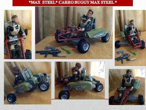 Figura De Acción Max Steel & Carro Buggy