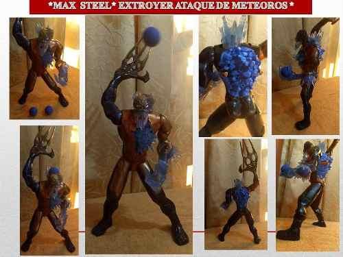 Figura De Acción Max Steel Extroyer Ataque De Meteoros