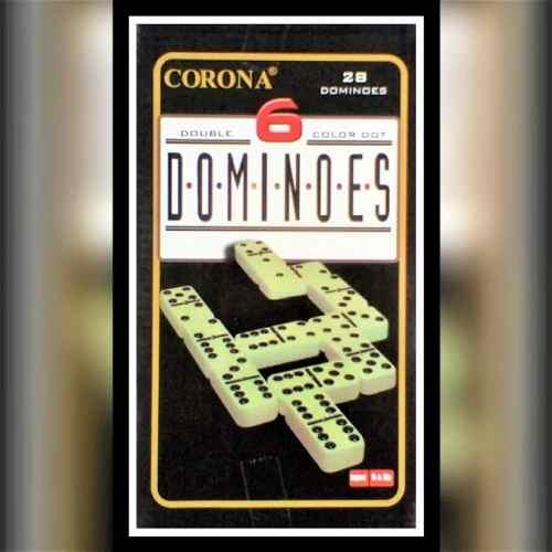Juego De Domino Piezas Grandes Con Estuche De Metal Corona