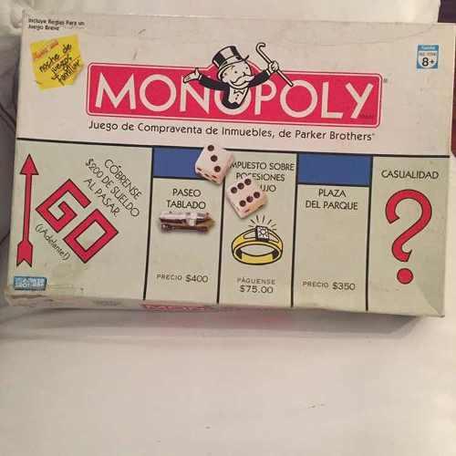 Juego De Mesa Monopolio Original Hasbro 100% Tradicional