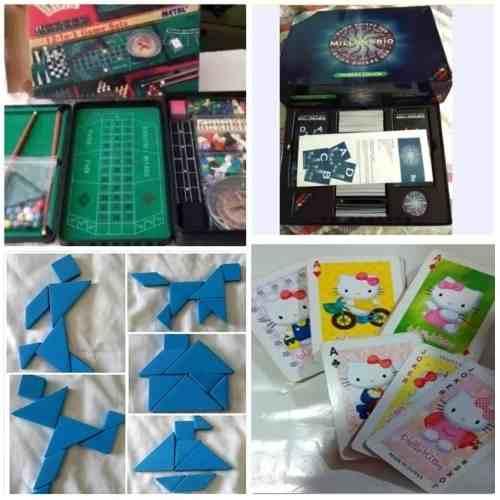Juegos De Mesa 12en1, Qqsm, Tangram, Helllo Kitty Poker