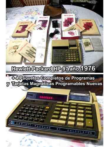 Antigua Calculador Hewlett Packard Hp-97 Año  Vintage